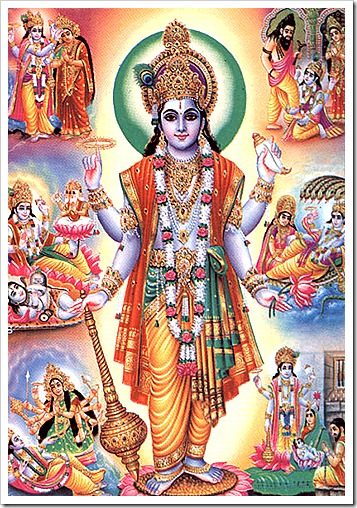 Lord Vishnu and His pastimes