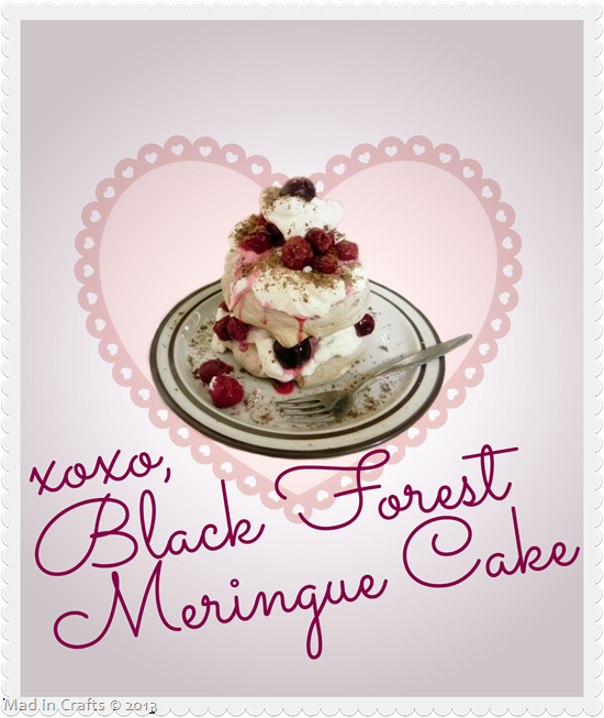 Black Forest Meringue Cake Recipe