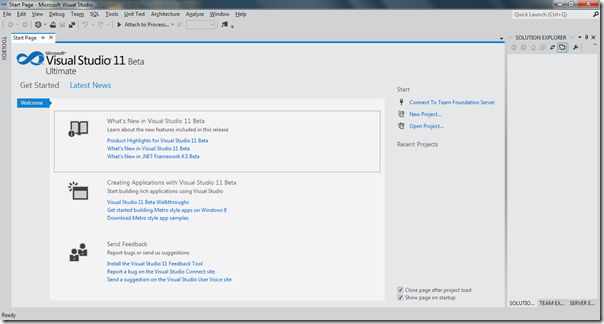 Visual Studio 2011 Beta first review