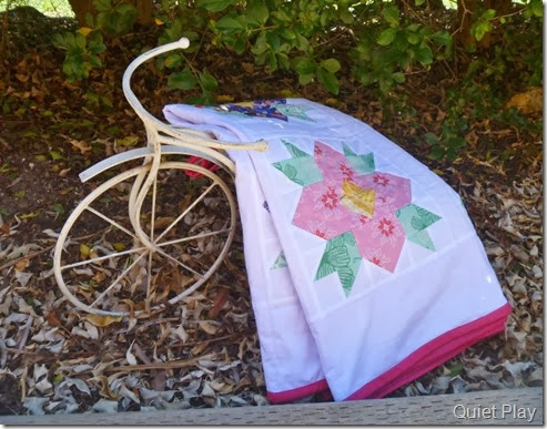 Blossom Quilt on a bike