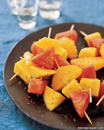 Fresh fruit soaked in tequila make a great wrap-up to a spicy meal. (marthastewart.com)