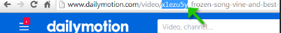 dailymotion video ID
