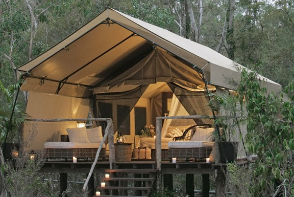 romantic camping at paperbark