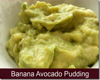 Banana Avocado Pudding