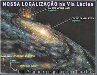 O centro galaxia