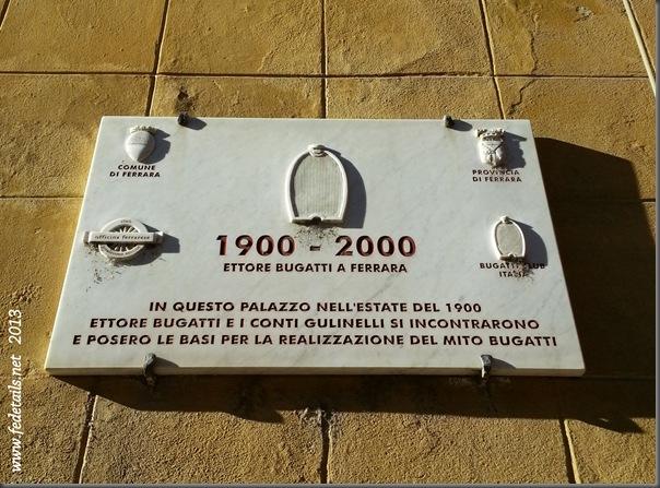Palazzo Gulinelli ( targa ), Ferrara, Emilia Romagna, Italia - Gulinelli building ( plate ), Ferrara, Emilia Romagna, Italy - Property and Copyrights of Fedetails.net