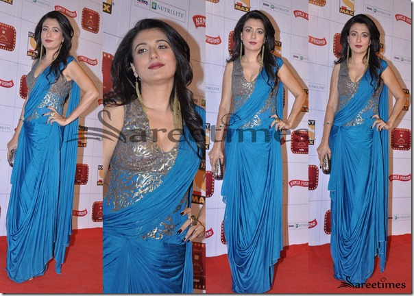 Mini_Mathur_Blue_Saree