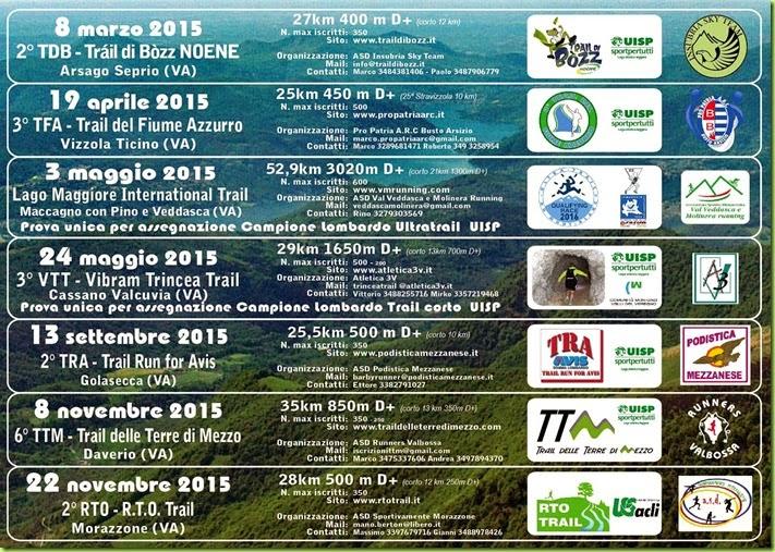Circuito trail Prealpi Varesine