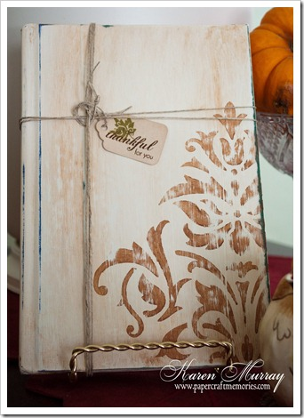 Stenciled book tag
