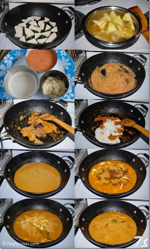 Paneer butter masala process