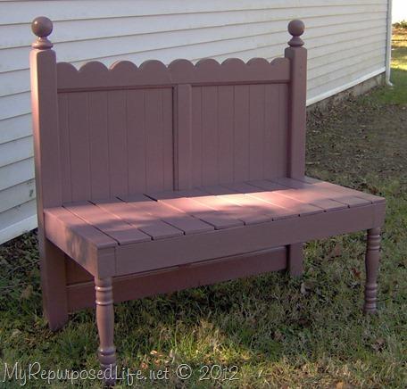 girly twin scalloped headboard bench
