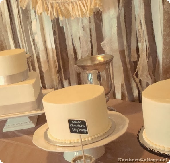 lovely dessert table backdrop {Northern Cottage}