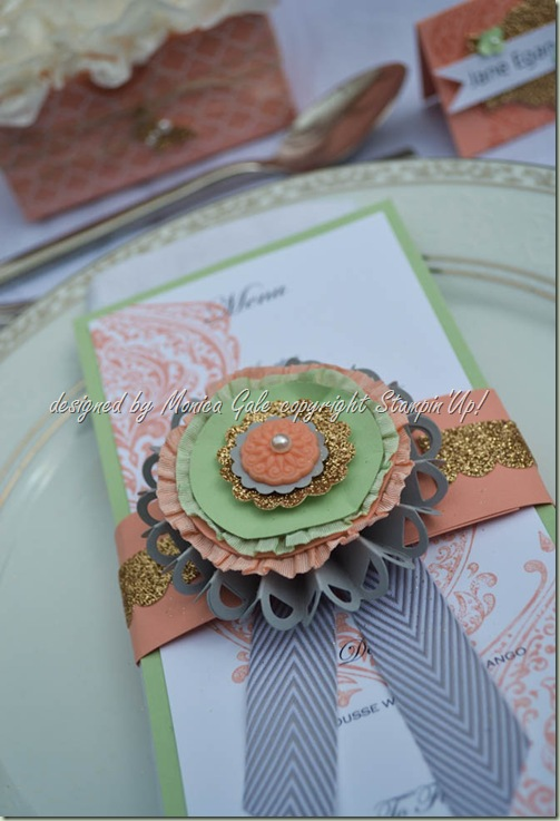 Stampin'Up! beautifully Boutique menu card