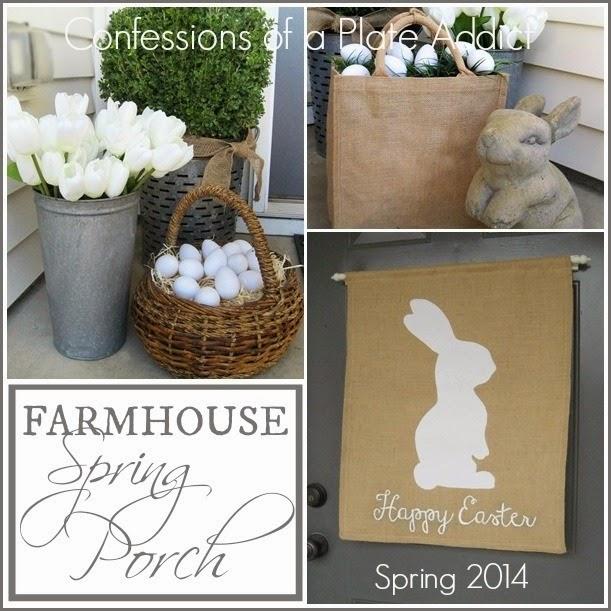 CONFESSIONS OF A PLATE ADDICT Farmhouse Spring Porch