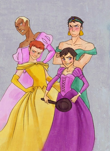 Boy Princesses by prettyellowcape on deviantArt