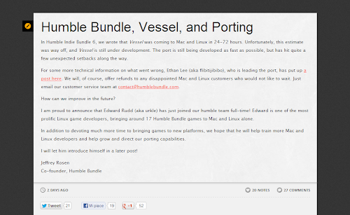 Humble Bundle migliora il supporto per Linux