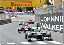 Hamilton nel gran premio di Monaco 2013