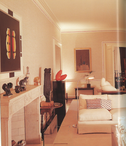 Decorated in 1971, this modern living room in Geneva still looks fresh and contemporary today.