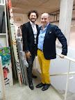 Fernando y José Luis Anzizar, en el primer piso de la galería