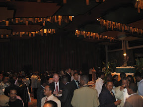 A view of the reception.
