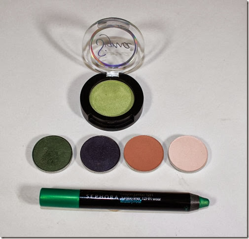 Products for Fall Green Blue FOTD
