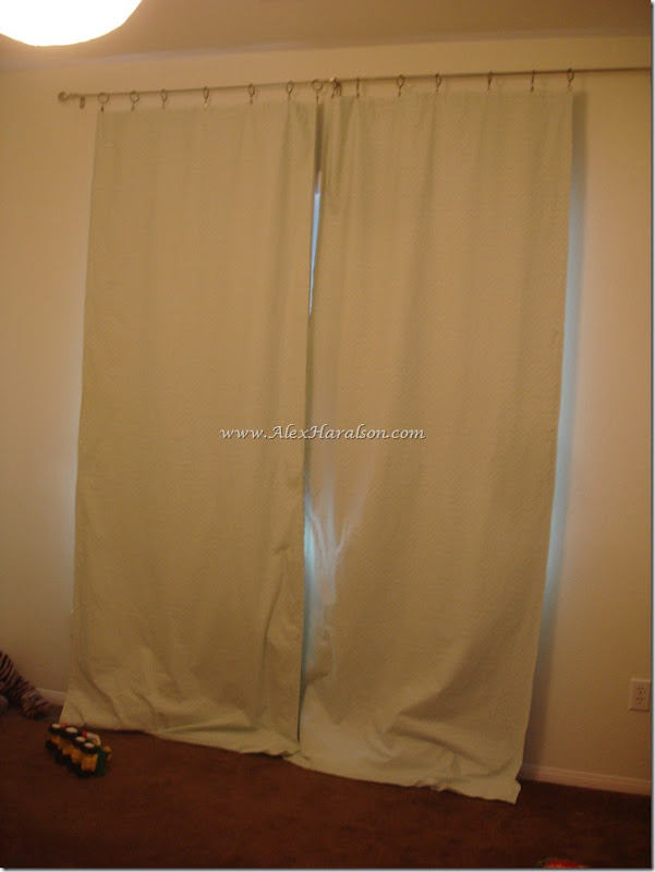 DIY Lined Curtains from a thrifted Sheet8