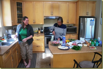 Anna and Jen in Kitchen
