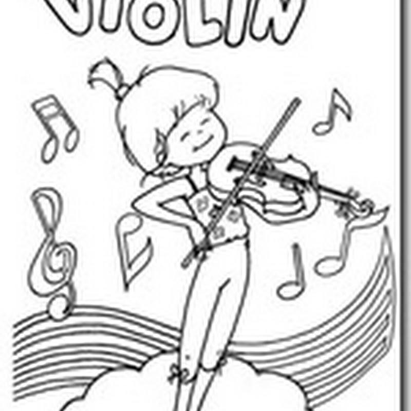 Colorear instrumentos de cuerda