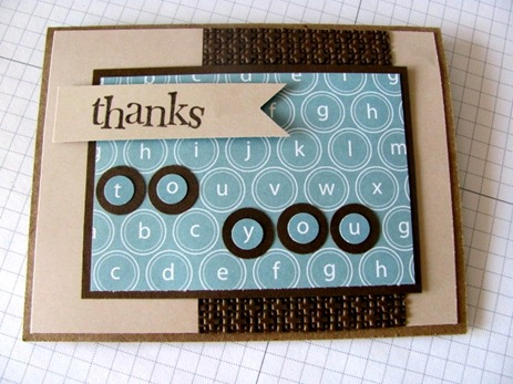 Thank you card for larry Buckland