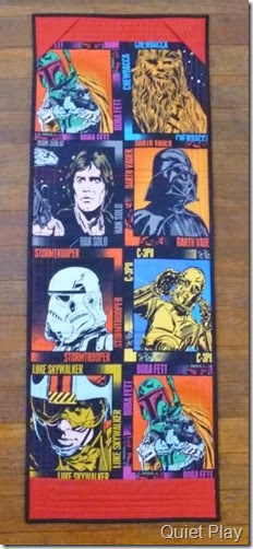 Back of Lego Star Wars wallhanging