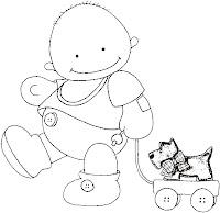 Baby01a Dibujos para calcar o colorear bebes