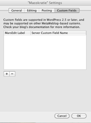 Macokratie Settings Custom 2