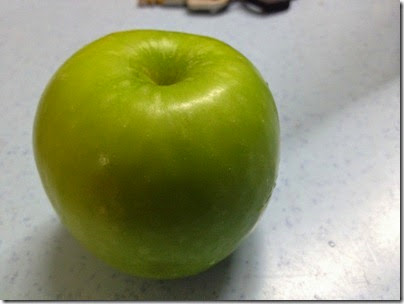 it's just a green apple