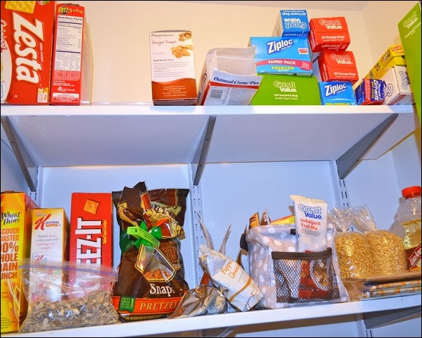 organized pantry snacks