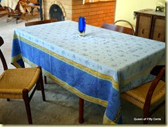 French tablecloth