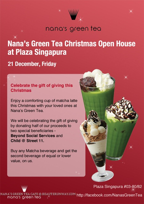 NANA'S GREEN TEA 1 FOR 1 MATCHA GREEN POWDERED TEA DRINK BEVERAGE  PLAZA SINGAPURA JAPANESE CAFE FLAGSHIP STORE OPENING Cafe Restaurant Matcha, crepes, desserts main course charity drive for Beyond Social Services