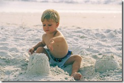 kid on beach