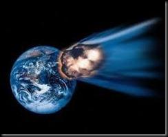 terra e meteoro