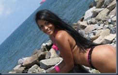 Modelo na praia