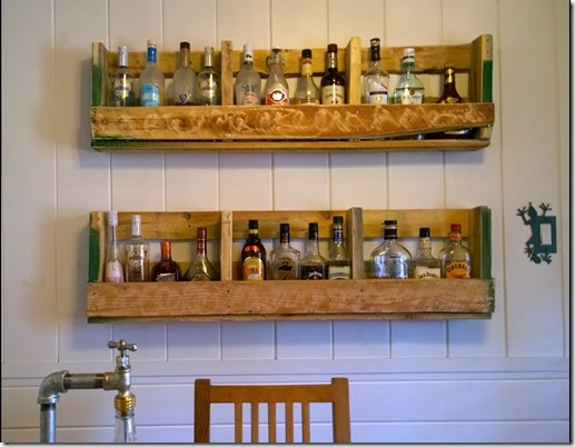 pallet liquor rack. DIY Pallet Liquor Rack R