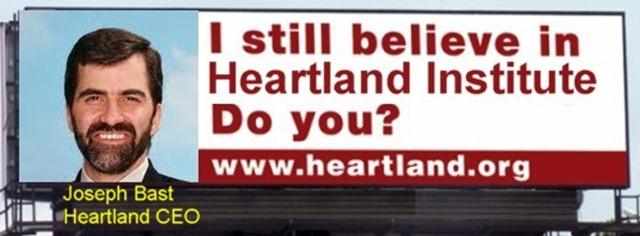 Parody of the aborted Heartland Institute billboard campaign against climate science, featuring Joseph Bast, CEO of Heartland. via Horatio Algeranon / tamino.wordpress.com