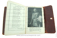 Kaiser Wilhelm II on the front page of the soldier diary
