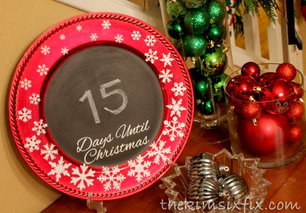 Chalkboard countdown christmas