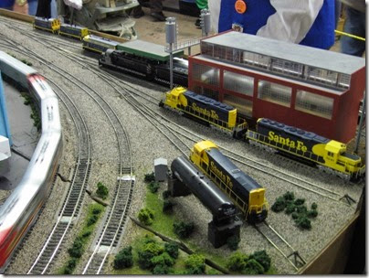 IMG_5393 Atchison, Topeka & Santa Fe Engine Terminal on the LK&R HO-Scale Layout at the WGH Show in Portland, OR on February 17, 2007