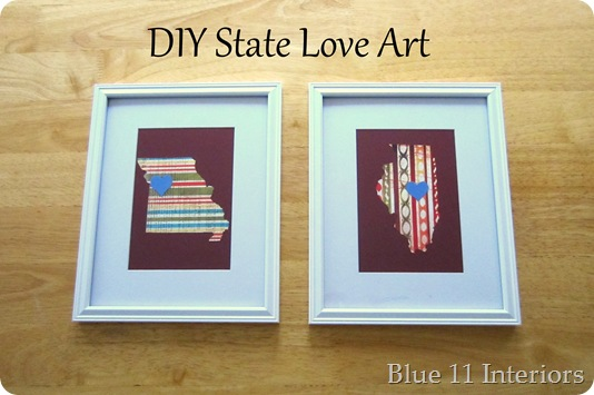 DIY State Love Art