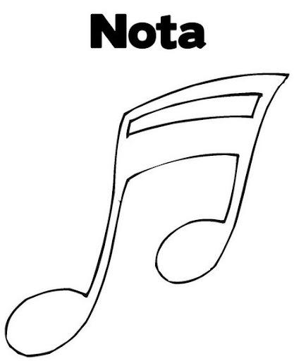 Notas musicales para colorear - Imagui