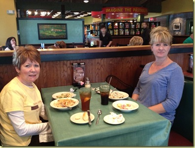 Sharida and Mom at Lunch 2