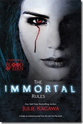 book cover of The Immortal Rules by Julie Kagawa