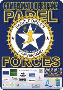 V Campeonato de España de PADELFORCES en el Club Nueva Alcantara, del 8 al 10 septiembre.
