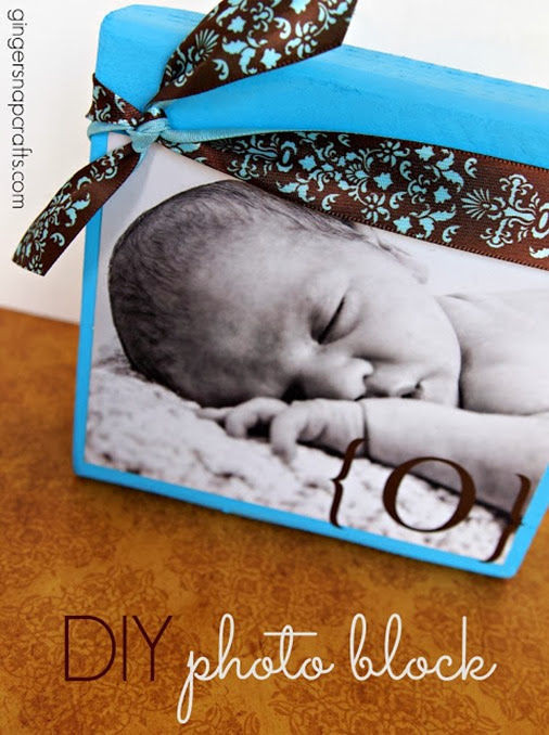 DIY Photo Block #gingersnapcrafts